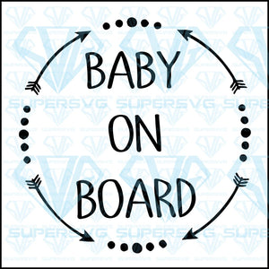 Baby On Board, svg, png, dxf, eps file