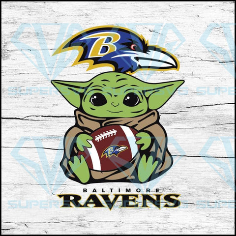 Baby Yoda Star Wars, Baltimore Ravens Svg, NFL Svg, Football Svg, Cricut File, Svg