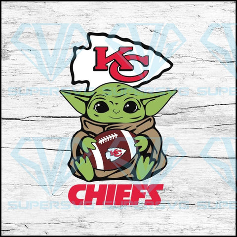 Baby Yoda Star Wars, Kansas City Chiefs Svg, NFL Svg, Football Svg, Cricut File, Svg