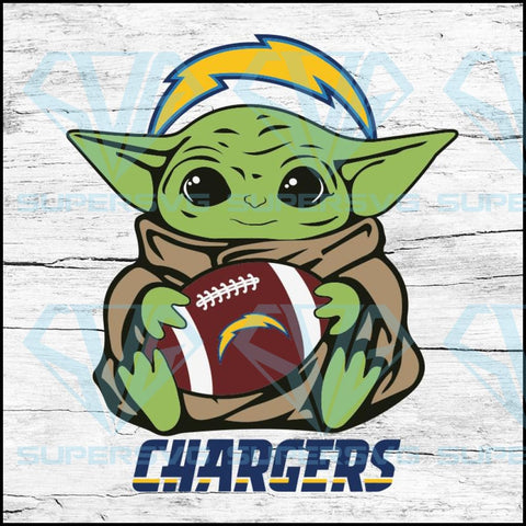 Baby Yoda Star Wars, Los Angeles Chargers Svg, NFL Svg, Football Svg, Cricut File, Svg