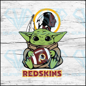 Baby Yoda Star Wars, Washington Redskins Svg, NFL Svg, Football Svg, Cricut File, Svg