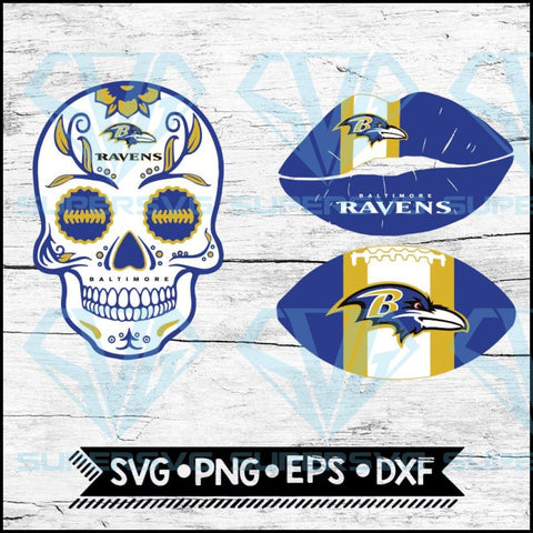 Baltimore Ravens Svg, NFL Svg, Bundle, Svg, Cricut File, Football Svg, Skull Svg
