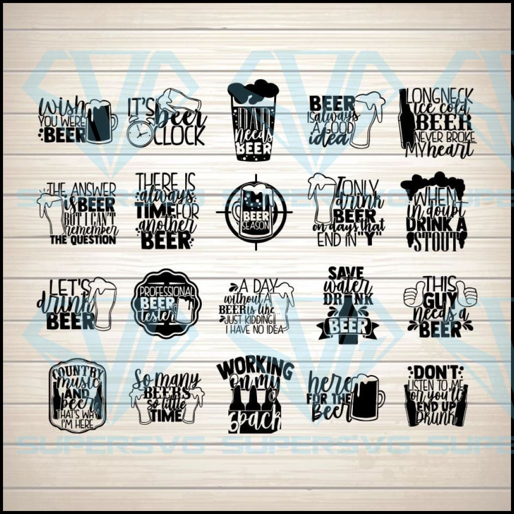 Beer Lover Bundle Drinking SVG PNG DXF EPS Download Files
