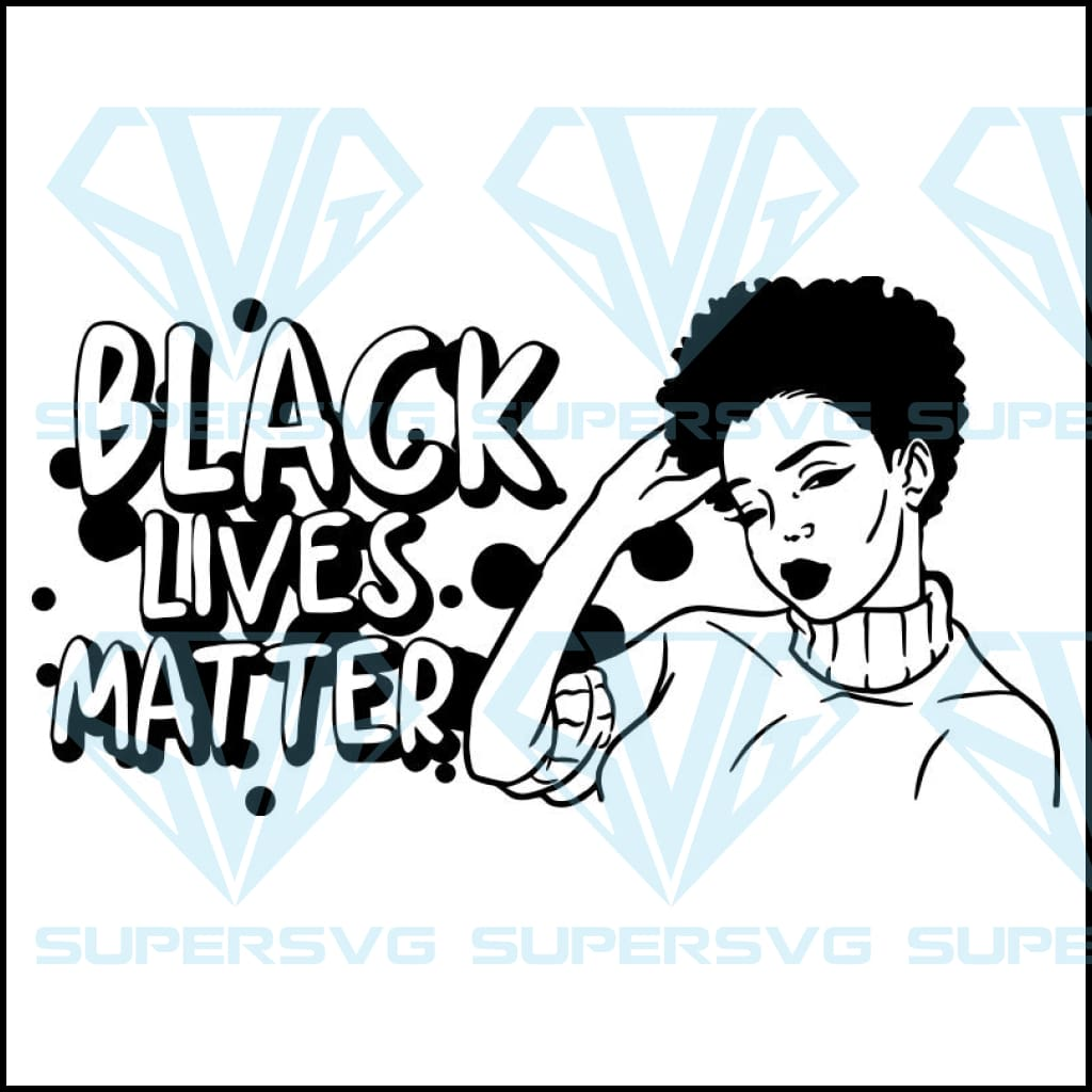 Black Lives Matter Humanity Social Protest Justice Racism Movement SVG PNG JPG Vector Cutting Files 6
