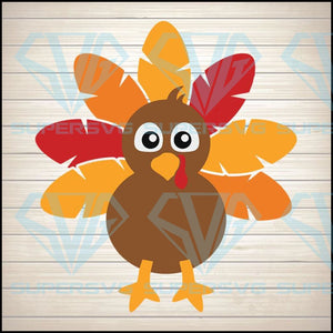 Boy Turkey Svg, Thanksgiving Svg Dxf Eps Png, Fall Cut Files