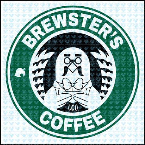 Brewsters Coffee Animal Crossing Svg Files For Silhouette Cricut Dxf Eps Png Instant Download