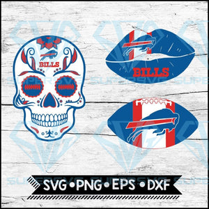 Buffalo Bills Svg, NFL Svg, Bundle, Svg, Cricut File, Football Svg, Skull Svg
