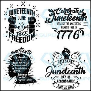 Bundle 4 Juneteenth Svg Files For Silhouette Files For Cricut Svg D Supersvg