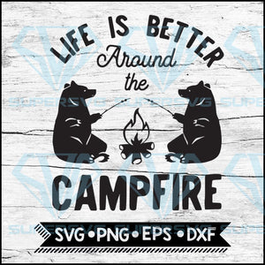 CampFire, Campfire Svg, Camping Pail Bucket Outdoor Adventure tent, Camping Svg, Cricut File, Svg