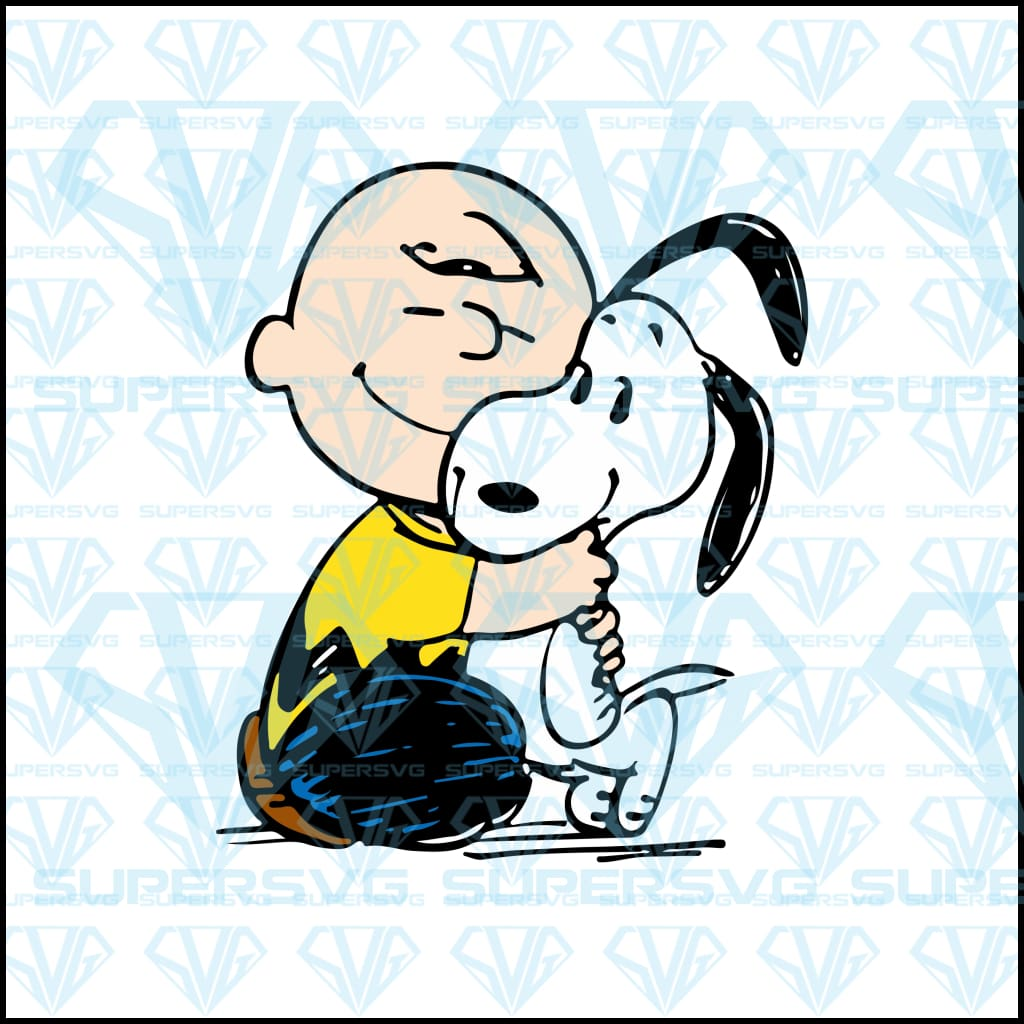 Charlie and Snoopy Hugging, svg, png, dxf, eps file