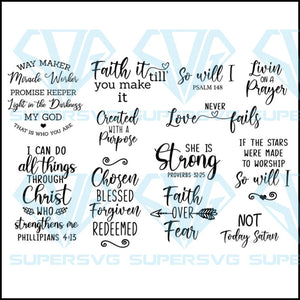 Christian Bundle SVG, Scripture Bundle, Instant Download, Bible Verse Bundle, Cut Files for Cricut, Religious SVG, Jesus, God, Faith svg
