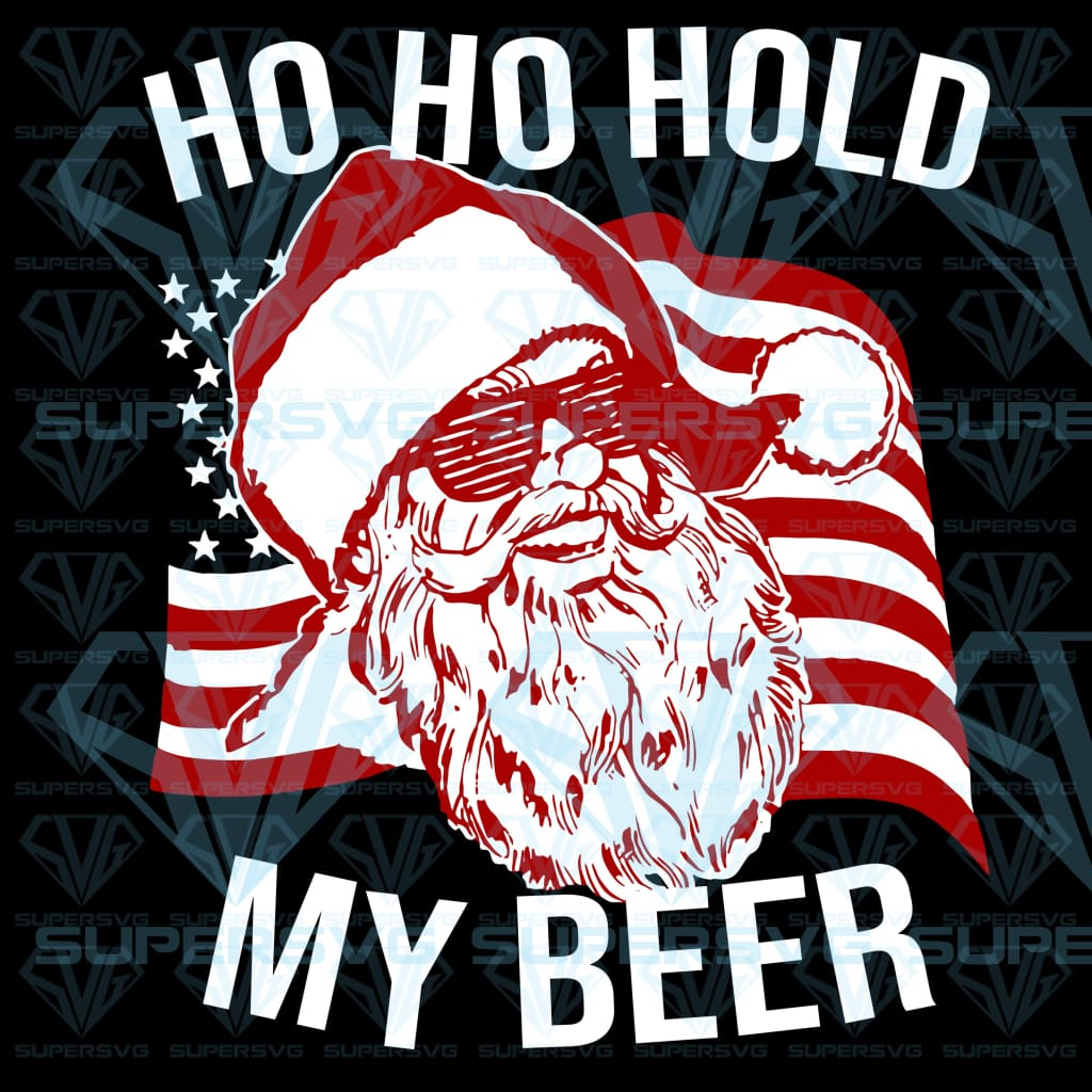 Christmas In July Santa Ho Ho Hold My Beer, svg, png, dxf, eps file