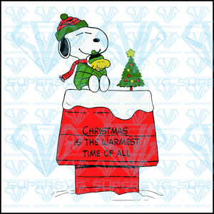 Christmas Is The Warmest Time Of All, Snoopy And Woodstock Christmas, svg, png, dxf, eps file