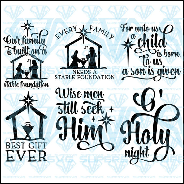 Christmas Nativity Bundle Svg Files For Silhouette Files For Cricut Supersvg