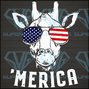 Cow with bandana svg file Merica silhouette Patriotic svg files Cow clipart American flag design 4th of july Vector Heifer PNG Farm