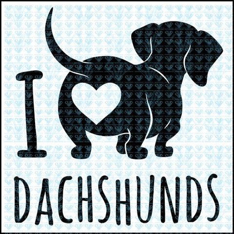 Cute Dachshund Dog Vector Svg Files For Silhouette Cricut Dxf Eps Png Instant Download