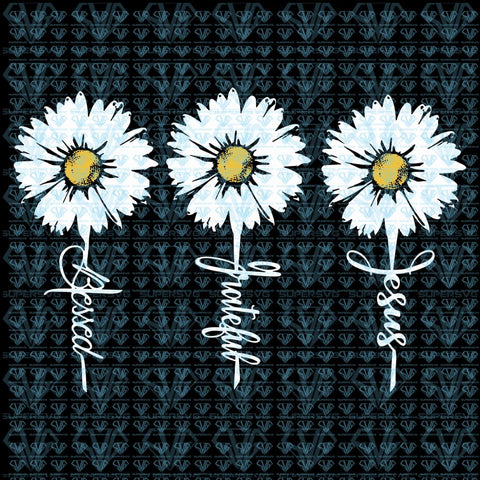 Daisy Svg Files For Silhouette Cricut Dxf Eps Png Instant Download