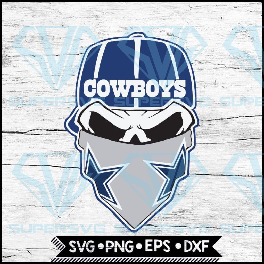 Dallas Cowboys Svg. NFL Svg, Skull Svg Files For Cricut, Football Svg, Cricut File, Svg