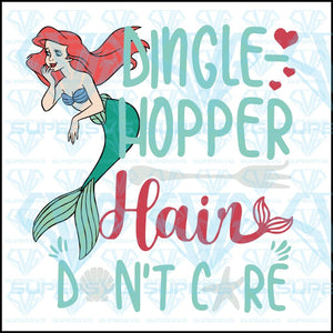 Dinglehopper, hair don't care, the little mermaid, svg, png, dxf, eps file
