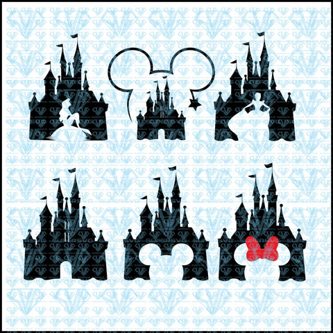 Disney Castle Mickey Mouse Minnie Bundle Svg Files For Silhouette Cricut Dxf Eps Png Instant