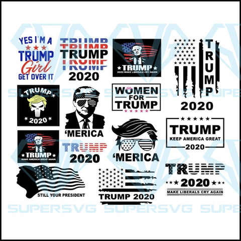 Donald trump svg bundle, giving middle finger, flipping off camera, election 2020, MAGA face vector, impeach this, funny political, united states, make america great