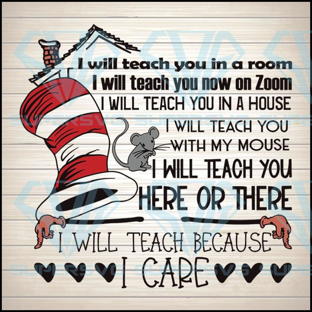 Dr. Seuss Teacher PNG SVG, Teacher SVG, Digital Design Instant Download