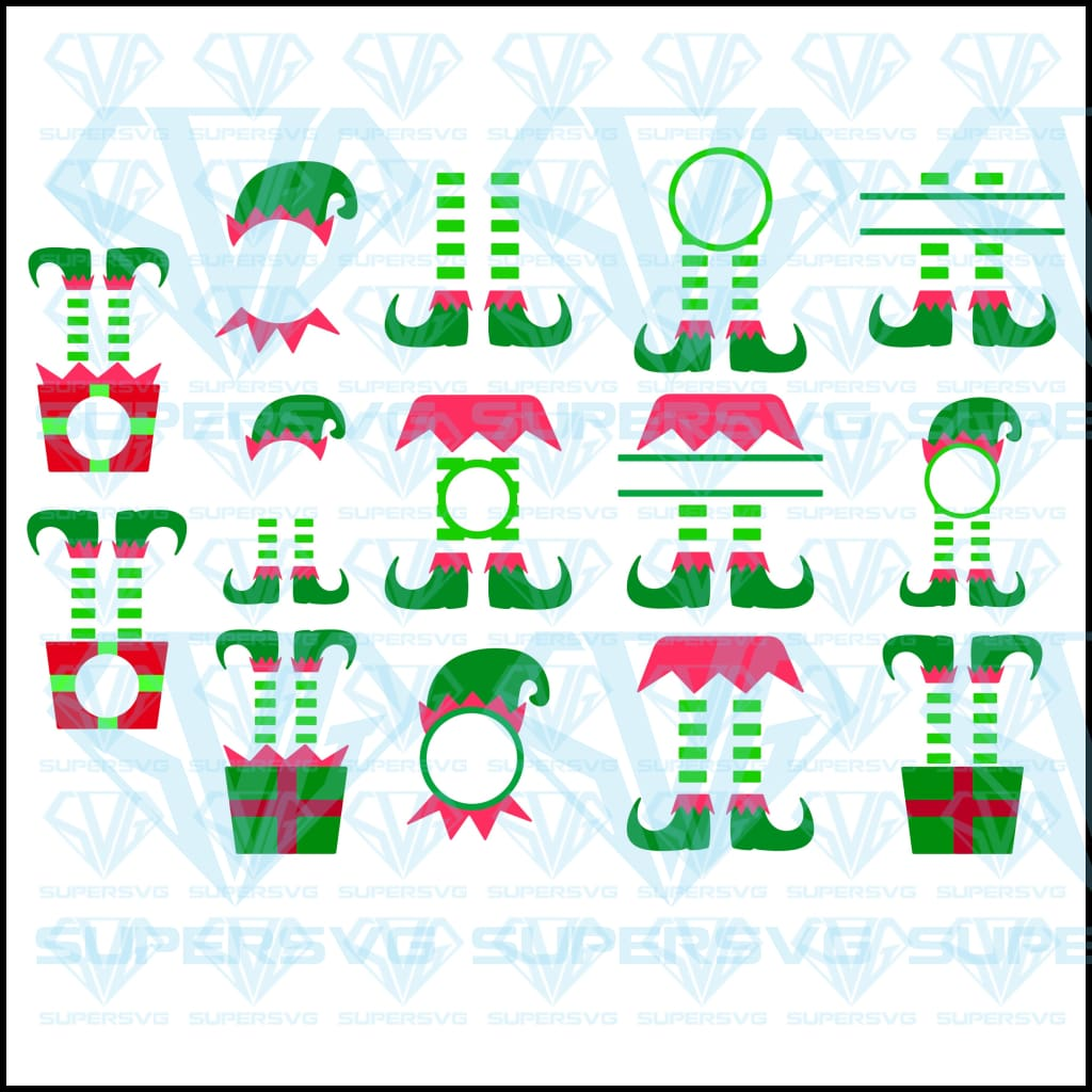 Elf SVG Bundle Monogram, svg, png, dxf, eps file