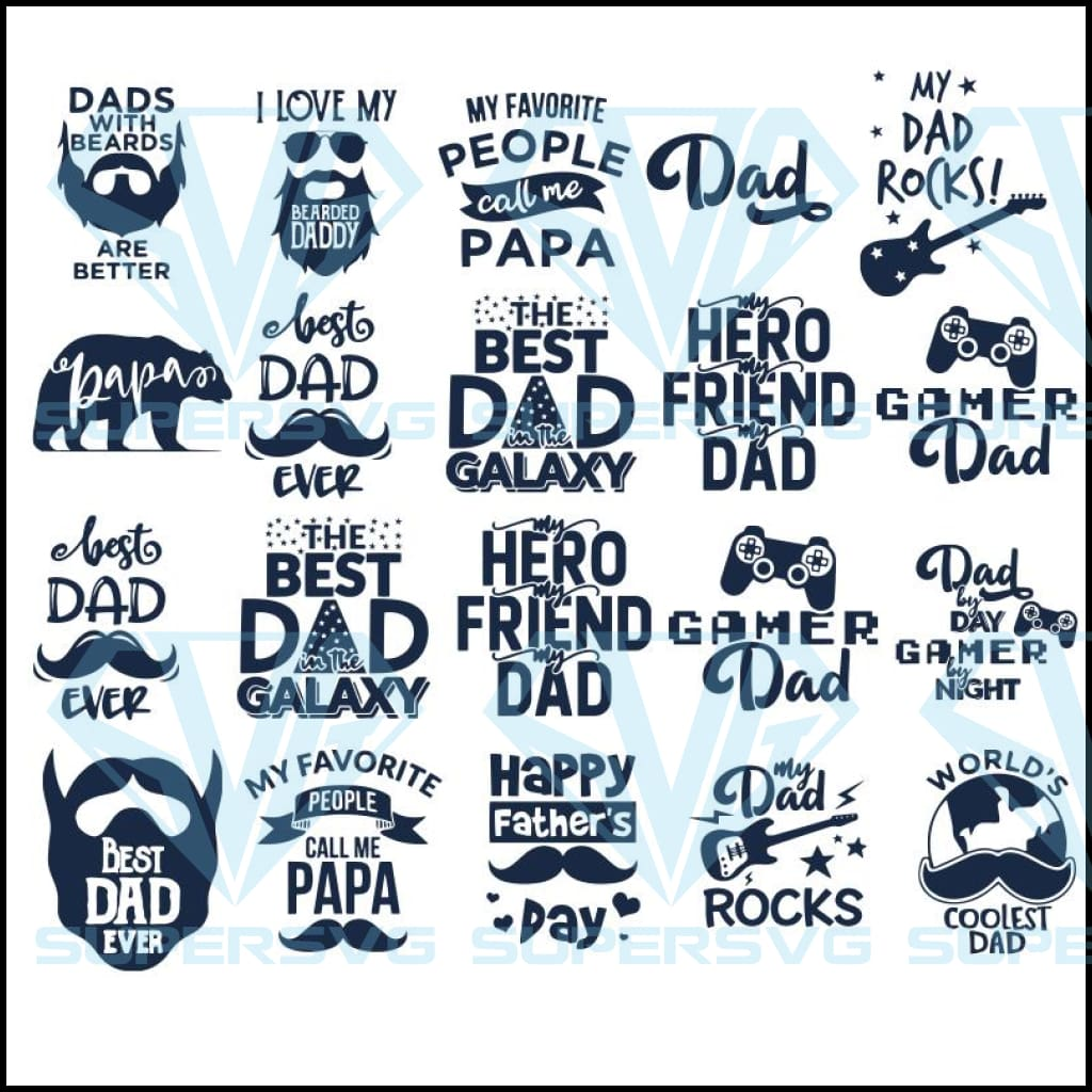26+ Father's Day Svg Bundle Image