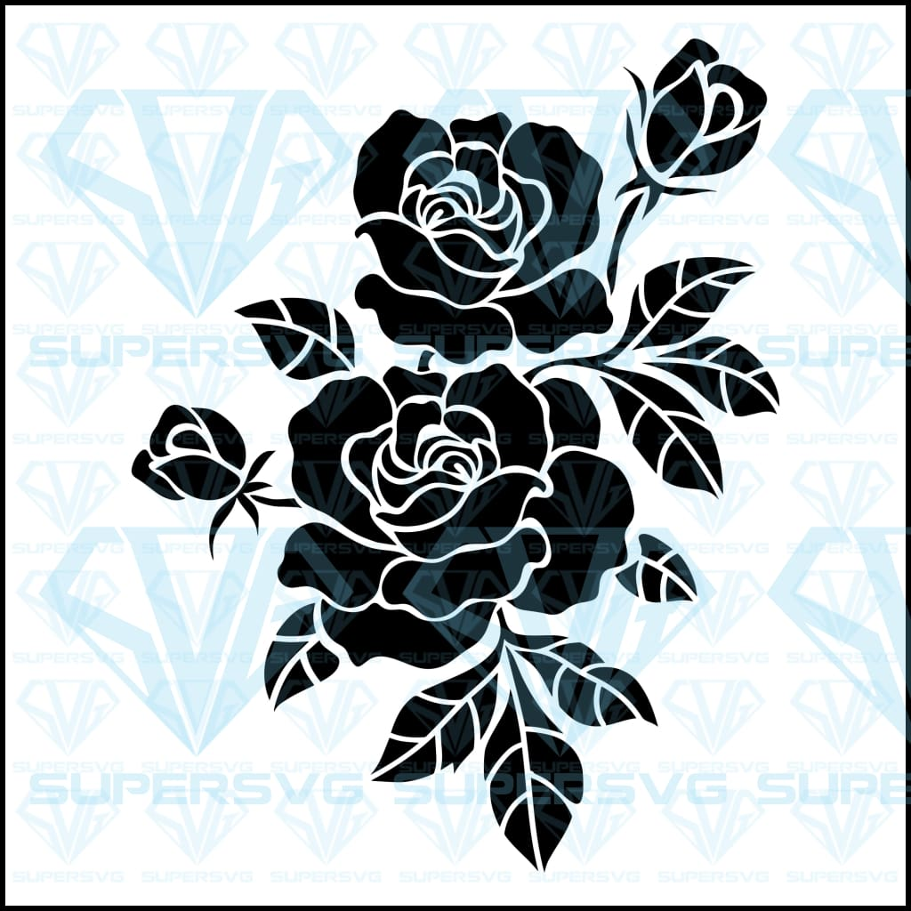 Flower Motif Sketch, silhouette, svg, png, dxf, eps file