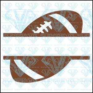 Football Split Monogram, svg, png, dxf, eps file