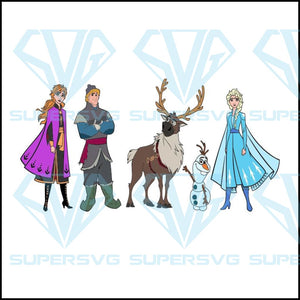 Frozen 2 Anna Elsa Olaf Sven Kristoff png, disney svg, disneyland svg, disney vacation, minnie mouse, princess svg