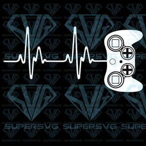 Gamer Heartbeat Video Game Lover, svg, png, dxf, eps file