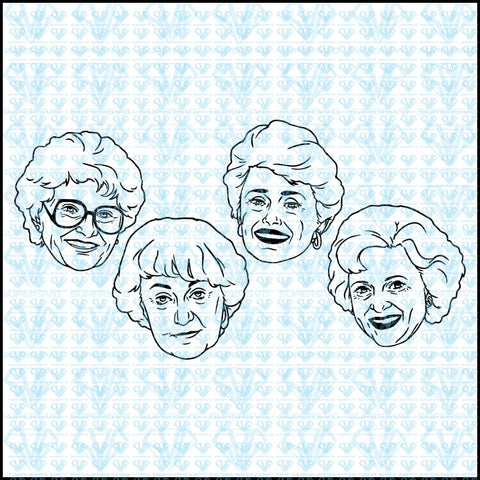 Golden Girls Bundle Svg Files For Silhouette Cricut Dxf Eps Png Instant Download