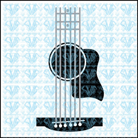 Guitar For Tumblers-Acustic Svg Files Silhouette Cricut Dxf Eps Png Instant Download
