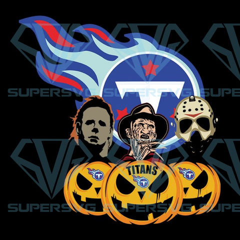 Halloween Horror Movie Pumpkin Svg, Jason Voorhees And Freddy Krueger Svg, Tennessee Titans