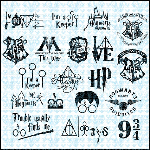 Harry Potter Bundle Svg Files For Silhouette Cricut Dxf Eps Png Instant Download