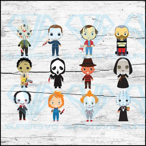 Horror Movies Svg, Cricut File, Svg, Halloween Characters Svg, Halloween Svg