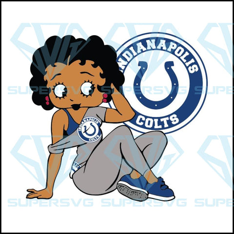 Indianapolis Colts, Betty Boobs Svg, Indianapolis Colts Svg, Black girl Svg, Black girl magic Svg, NFL Svg