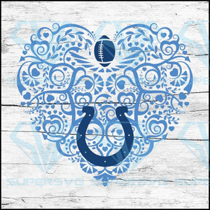 Indianapolis Colts, Heart SVG, NFL Svg, Football Svg, Cricut File, Svg