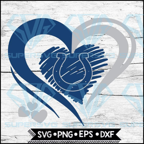 Indianapolis Colts Love Svg, Heart Indianapolis Colts Svg, NFL Svg, Football Svg, Cricut File, Svg