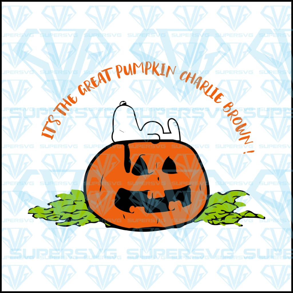 It's The Great Pumpkin Charlie Brown!, snoopy, pumpkin, svg, png, dxf, eps file