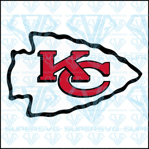 Kansas City Chiefs logo, svg, png, dxf, eps file