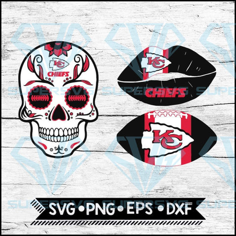 Kansas City Chiefs Svg, NFL Svg, Bundle, Svg, Cricut File, Football Svg, Skull Svg