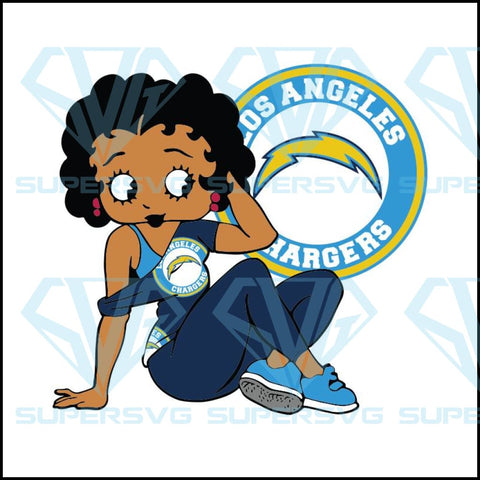 Los Angeles Chargers, Betty Boobs Svg,Los Angeles Chargers Svg, Black girl Svg, Black girl magic Svg, NFL Svg