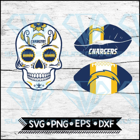Los Angeles Chargers Svg, NFL Svg, Bundle, Svg, Cricut File, Football Svg, Skull Svg