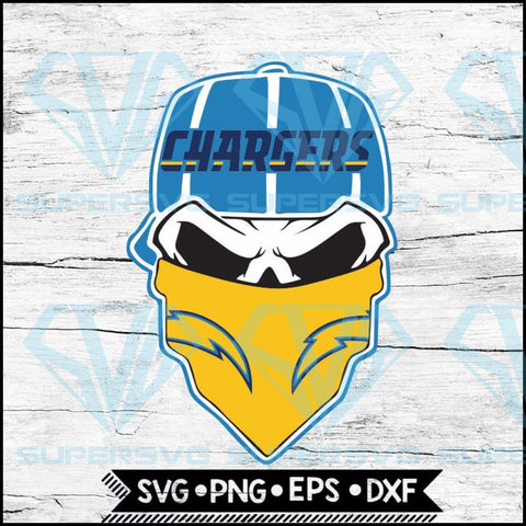 Los Angeles Chargers Svg. NFL Svg, Skull Svg Files For Cricut, Football Svg, Cricut File, Svg