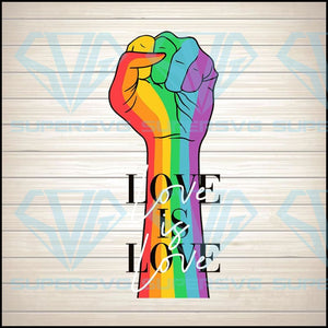 Love Is Love Hand Rainbow SVG PNG DXF EPS Download Files