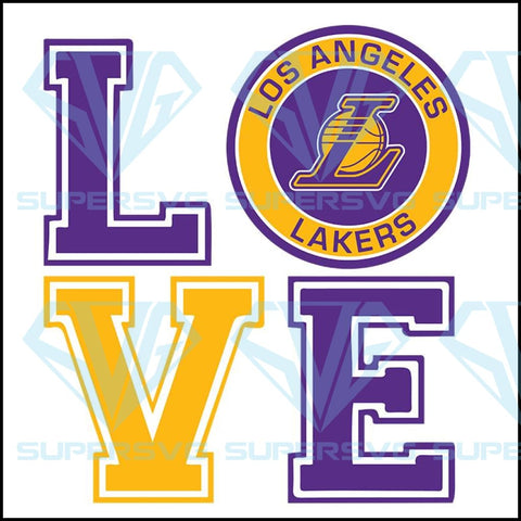 Love Los Angeles Lakers svg, Lakers svg
