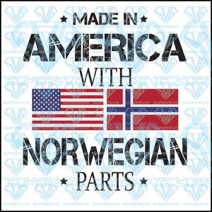 Made In America With Norwegian Parts, svg, png, dxf, eps file