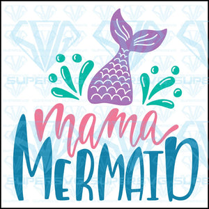 Mama Mermaid Svg Files For Silhouette Cricut Dxf Eps Png Instant Download
